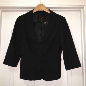 Limited Round Collared Black Blazer Jacket Size M